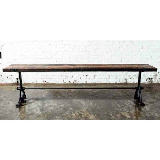 V32 Metal/Wood Entryway Bench