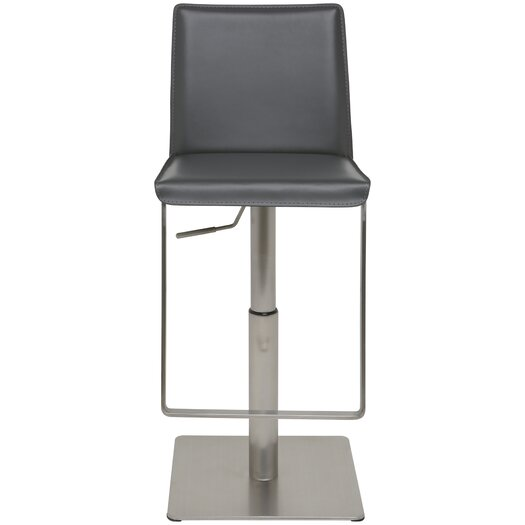 Kailee Adjustable Height Swivel Bar Stool with Cushion