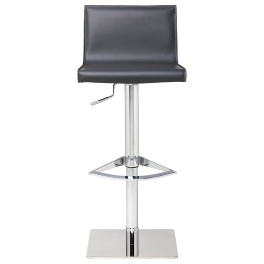 Colter Adjustable Height Swivel Bar Stool with Cushion
