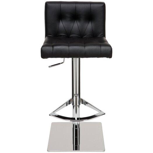 Preston Adjustable Height Swivel Bar Stool with Cushion