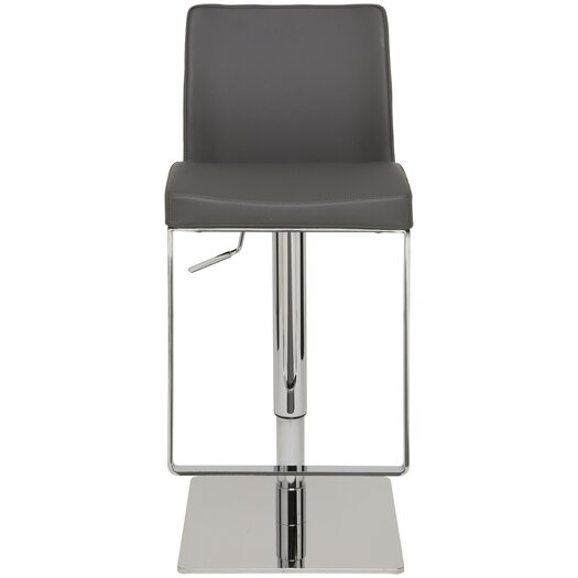 Matteo Adjustable Height Swivel Bar Stool with Cushion