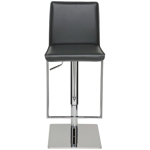 Nuevo Cameron Adjustable Height Swivel Bar Stool with Cushion