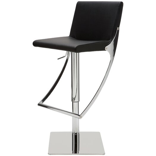 Swing Adjustable Height Swivel Bar Stool with Cushion