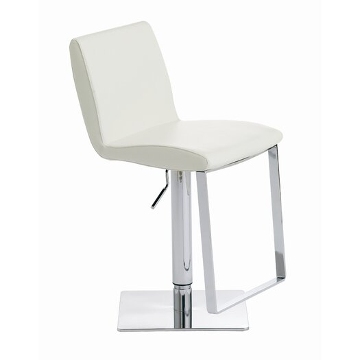 Lewis Adjustable Height Swivel Bar Stool with Cushion