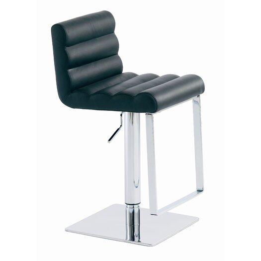Fanning Adjustable Height Swivel Bar Stool with Cushion