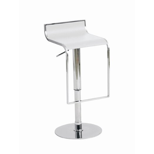 Alexander Adjustable Height Swivel Bar Stool with Cushion