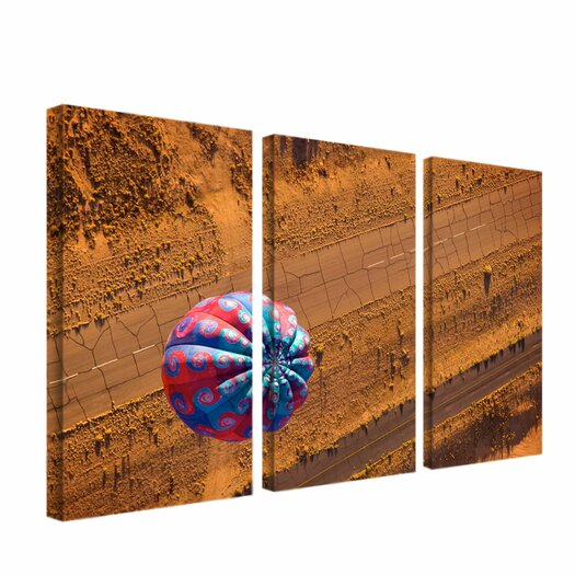 "Trademark Fine Art ""Cracked Highway"" by Aiana Photographic Print 3 Panel Art Set"