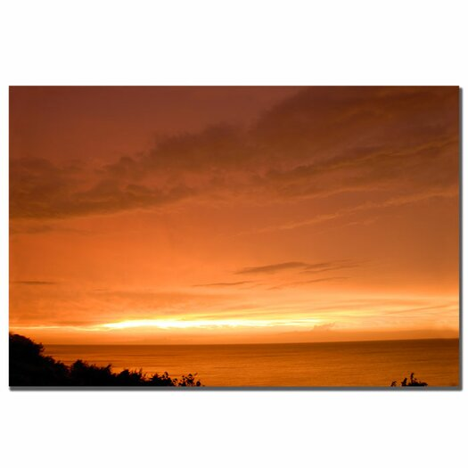 Trademark Fine Art 'Golden Lake' by Kurt Shaffer Photographic Print on Canvas