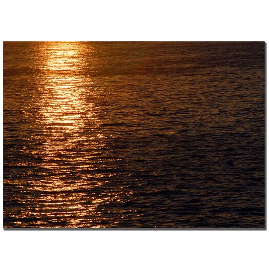 Trademark Fine Art 'Sunset Reflections' by Kurt Shaffer Photographic Print on Wrapped Canvas