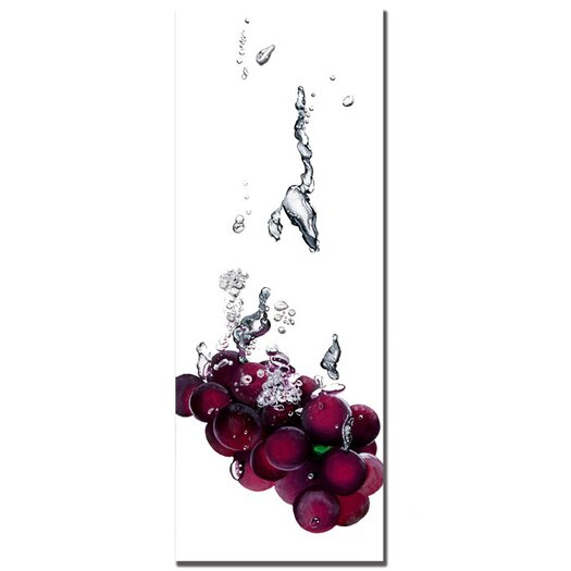 Trademark Fine Art 'Grapes Splash II' by Roderick Stevens Photographic Print on Wrapped Canvas