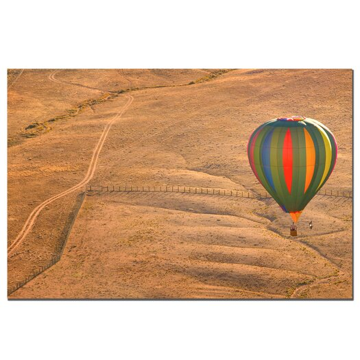 """Trademark Fine Art """"Lonesome Road Balloon"""" by Aiana Photographic Print on Wrapped Canvas"""