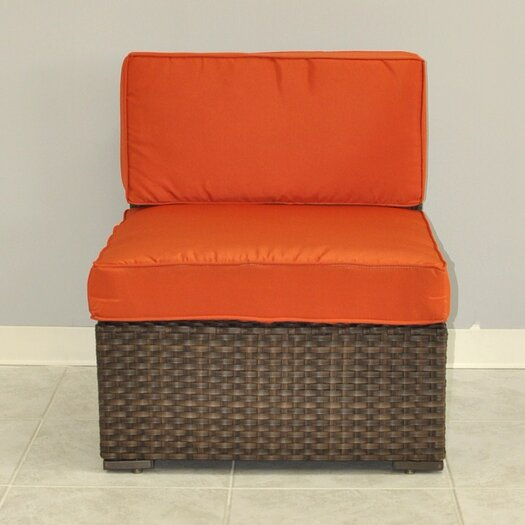 International Home Miami Miami Atlantic Middle Sectional Seat with Cushions