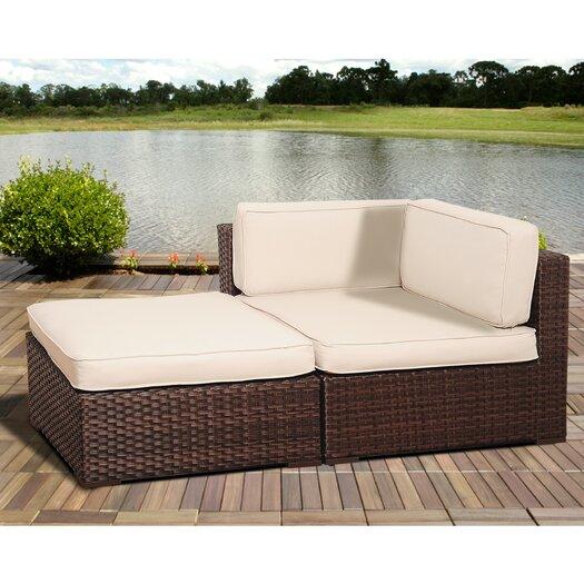 International Home Miami Miami Atlantic Corner Sectional Seat with Cushions