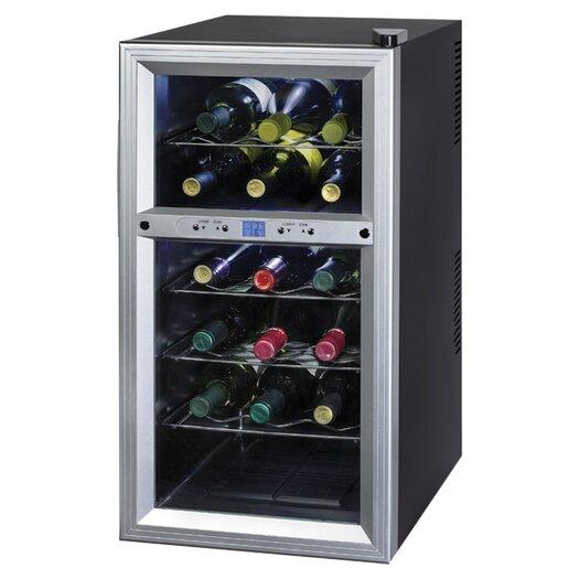 Kalorik 18 Bottle Dual Zone Freestanding Wine Refrigerator