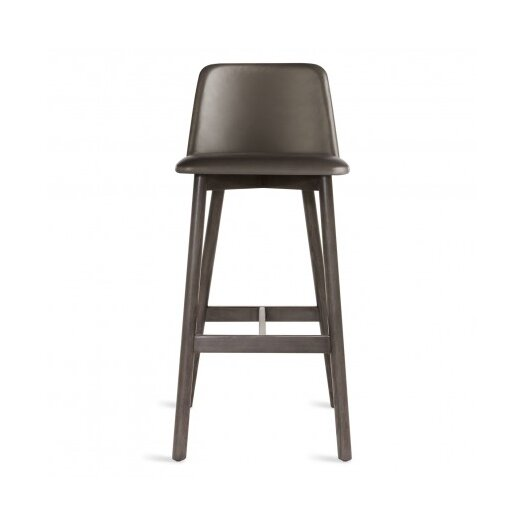 Chip Barstool - Smoke / Grey-Brown leather
