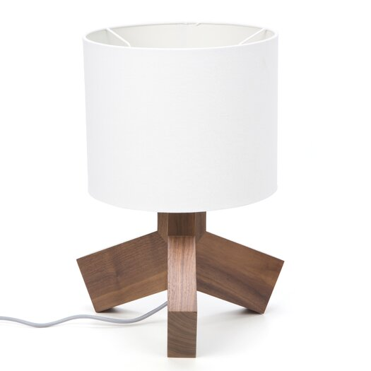 """Blu Dot Rook 19.5"""" H Table Lamp with Drum Shade"""
