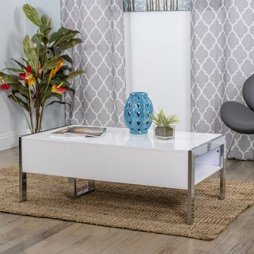 Matrix Selva White Coffee Table With Lift Top