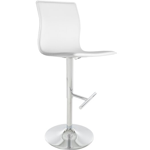 Matrix Klub Adjustable Height Swivel Bar Stool with Cushion