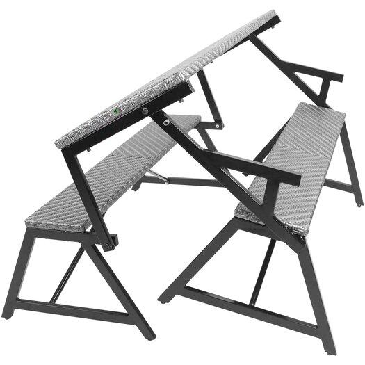 Matrix Vero Grey Outdoor Convertible Bench / Picnic Table