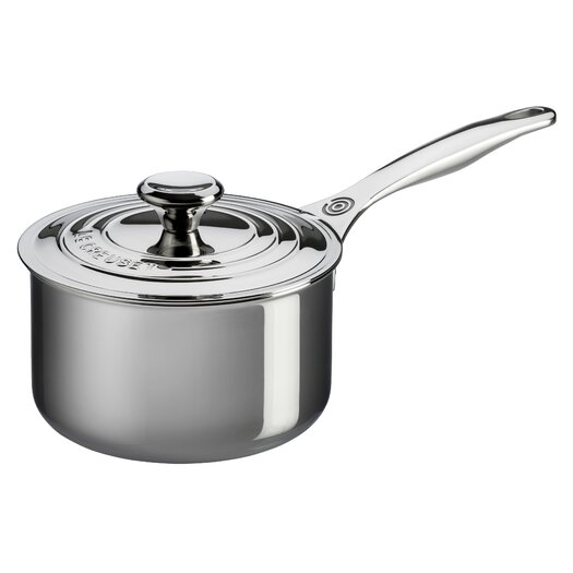 Le Creuset Stainless Steel Saucepan with Lid