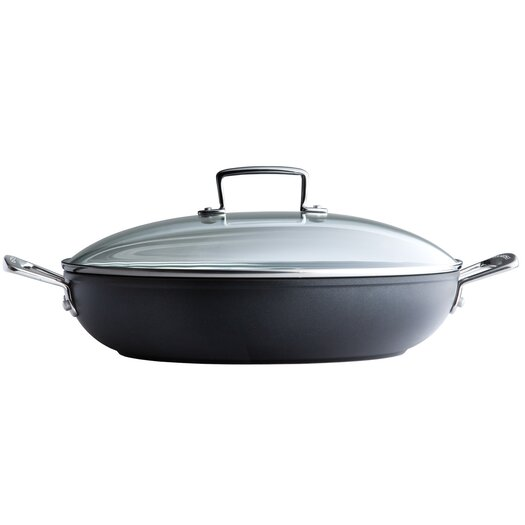Le Creuset Forged Hard-Anodized Non-Stick Braiser with Lid
