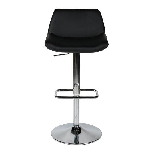 Whiteline Imports Maya Adjustable Height Swivel Bar Stool with Cushion