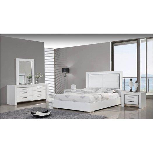 Whiteline Imports Ibiza Panel Customizable Bedroom Set