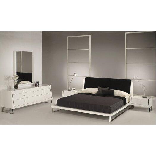 Whiteline Imports Bahamas Platform Customizable Bedroom Set
