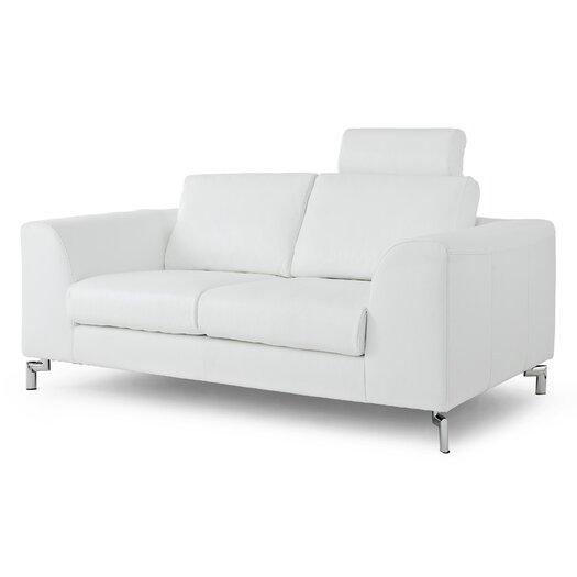 Whiteline Imports Angela Leather Loveseat