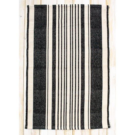 Clm Boothbay Black Natural Stripe Area Rug Allmodern