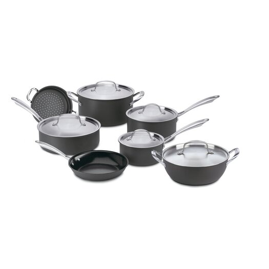 Cuisinart Green Gourmet Hard-Anodized Aluminum 12 Piece Cookware Set