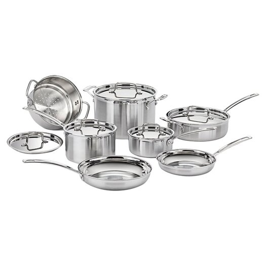 Cuisinart Stainless Steel MultiClad Pro 12 Piece Cookware Set