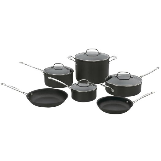 Cuisinart Chef's Classic Non-stick Hard-Anodized 10 Piece Cookware Set