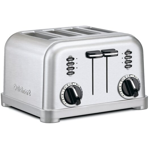 Cuisinart Metal Classic 4-Slice Toaster in Brushed Stainless