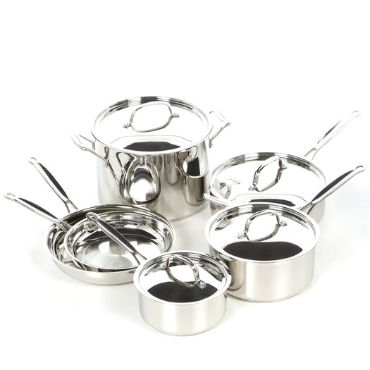 Cuisinart Chef's Classic Stainless Steel 10 Piece Cookware Set