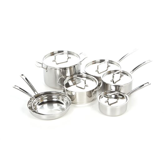 Cuisinart Stainless Steel MultiClad Pro 12 Piece Cookware Set