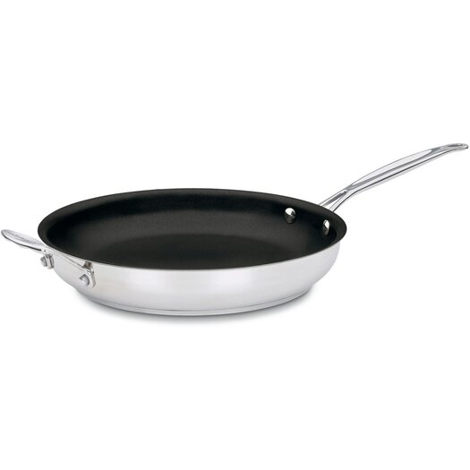 "Cuisinart Chef's Classic Stainless Steel 12"" Non-Stick Skillet"