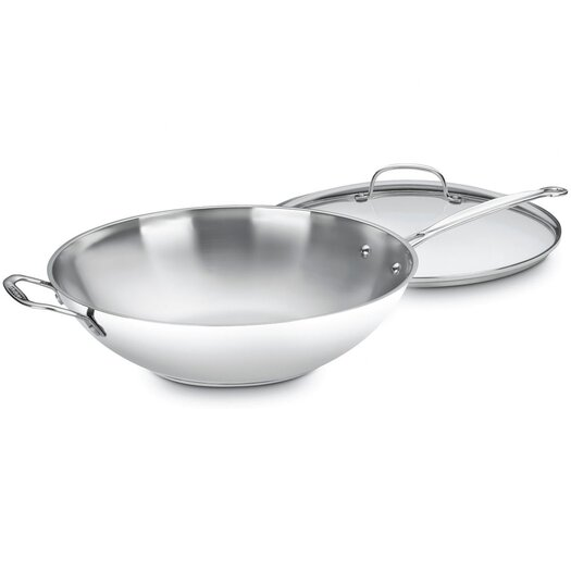 Cuisinart Chef's Classic Stainless Steel Stir Fry Wok with Lid