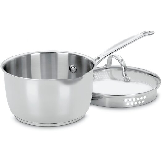 Cuisinart Chef's Classic Stainless Steel 2 Qt. Saucepan with Lid