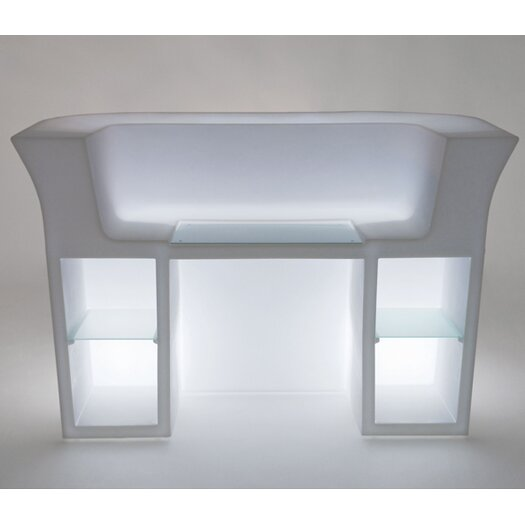 Slide Design Rectangular Reception Desk