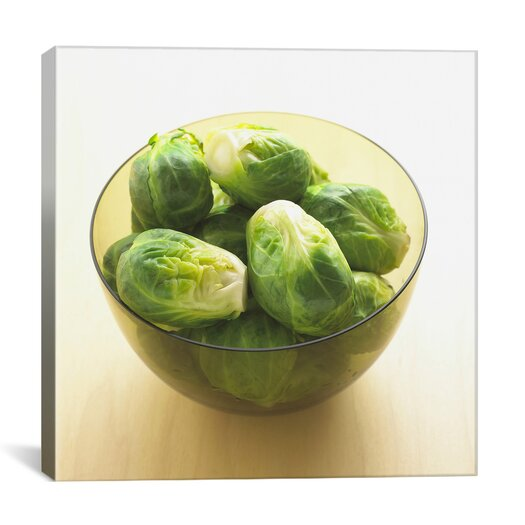 iCanvas Brussels Sprouts in Bowl Photographic Canvas Wall Art