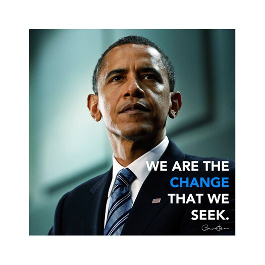 iCanvas Barack Obama Quote Canvas Wall Art