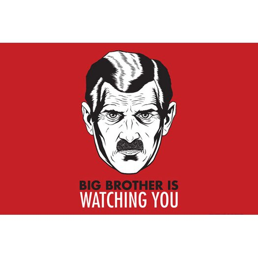 iCanvas Political Big Brother Is Watching You 1984 Vintage Advertisement on Canvas