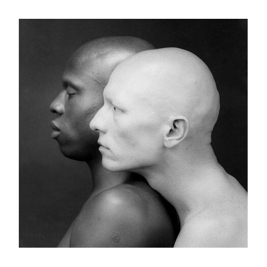 iCanvas Black and White Men Photographic Canvas Wall Art