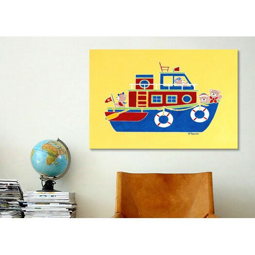 "iCanvas Shelly Rasche ""Boating Bears"" Canvas Wall Art"