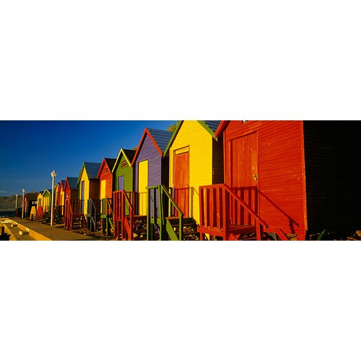 iCanvas Panoramic Beach Huts in Cape Town, South Africa Photographic Print on Canvas