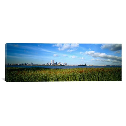 iCanvas Panoramic Buildings at the Waterfront, New Jersey, New York City, New York State Photographic Print on Canvas