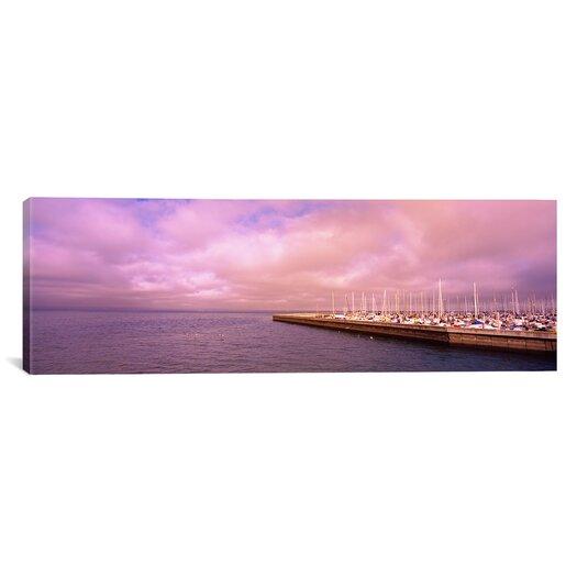 iCanvas Panoramic Yachts Moored at a Harbor, San Francisco Bay, San Francisco, California Photographic Print on Canvas