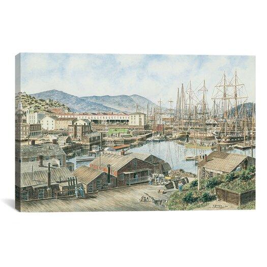 iCanvas 'Yerba Buena Cove, San Francisco' by Stanton Manolakas Painting Print on Canvas
