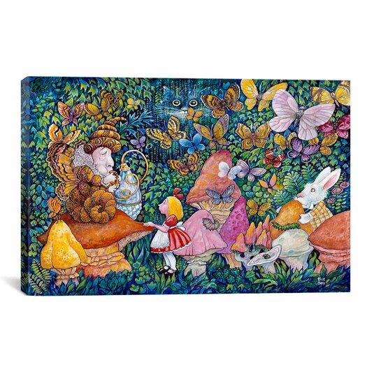 """iCanvas Decorative Art """"Alice And The Caterpiller"""" Canvas Wall Art"""